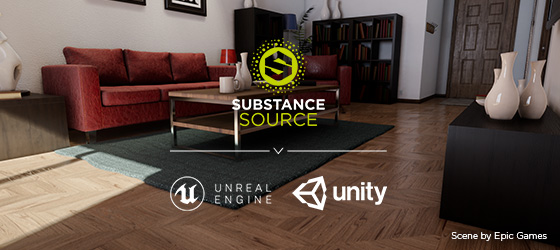 Substance Source Flows Directly Into Unity and Unreal Engine